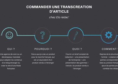 commander une transcréation d'article by elo redac'