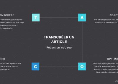 transcréer un article seo by elo rédac'