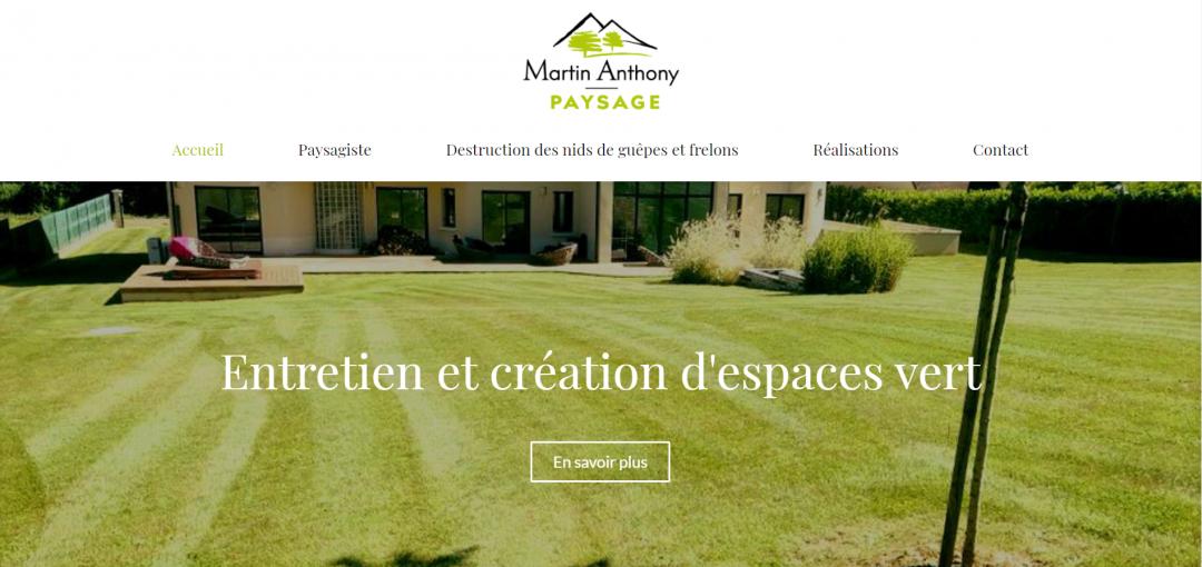 Rédaction site vitrine paysagiste