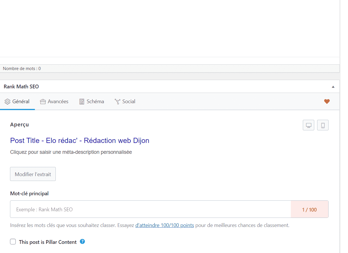 Créer la balise html meta description de votre texte