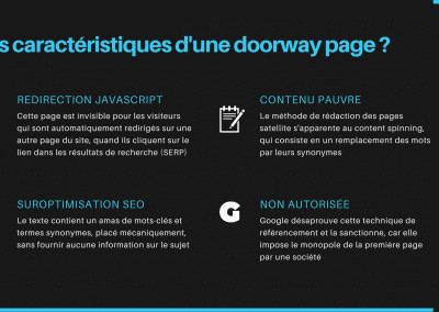 les caractéristiques d'un page satellite
