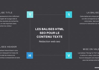 Toutes les balises html textes pour le contenu web